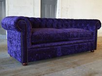 Chesterfield sofa / velvet / mahogany / 4-seater