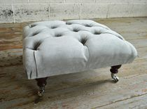 Chesterfield footrest / fabric / on casters