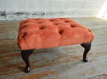 Chesterfield footrest / fabric