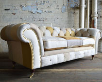 Chesterfield sofa / fabric / 2-seater / 3-seater