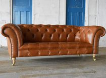 Chesterfield sofa / leather / 2-seater / 3-seater