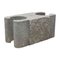 Hollow concrete block / for retaining walls / high-resistance