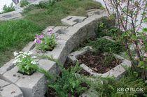 Hollow concrete block / for garden enclosures / high-resistance