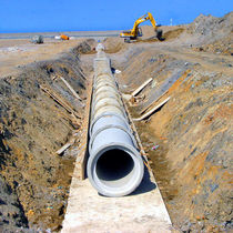 Reinforced concrete pipework / for drainage systems