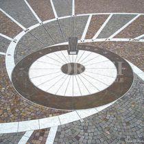 Porphyry paver / drive-over / pedestrian / for public spaces