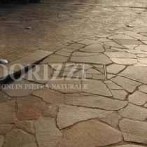 Porphyry stone slab / matte / for floors / red