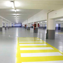 Epoxy resin flooring / polyurethane / for parking lots / concrete look