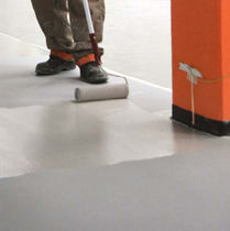 Polyurethane flooring / acrylic / industrial / for healthcare facilities
