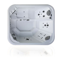 Above-ground hot tub / rectangular / 6-seater / outdoor