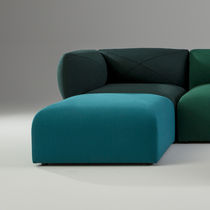 Contemporary pouf / fabric / square / living room