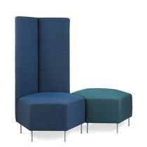 Contemporary pouf / fabric / modular / for public buildings
