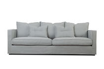 Contemporary sofa / fabric / 2.5-seater / with removable cushion