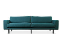 Contemporary sofa / leather / fabric / 2-seater