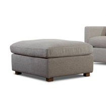 Contemporary ottoman / fabric / upholstered / indoor