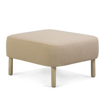 Contemporary footstool / wooden / fabric / indoor