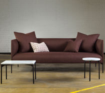 Contemporary sofa / fabric / 2-seater / with removable cushion