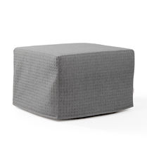 Contemporary pouf / fabric / with removable cover / for hotels