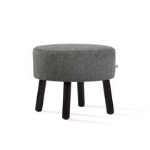 Contemporary stool / ash / fabric / commercial