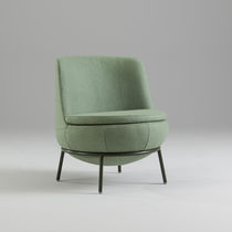 Contemporary fireside chair / fabric / for public buildings