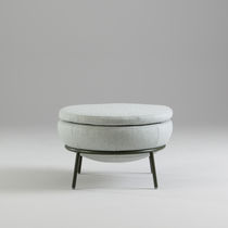 Contemporary footstool / fabric / indoor / residential