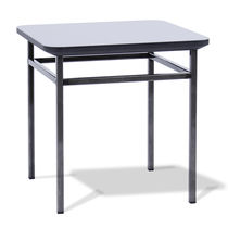 Contemporary table / metal / MDF / square