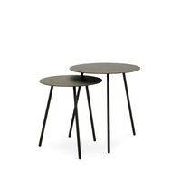 Contemporary high bar table / metal / round