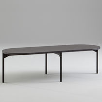 Contemporary dining table / metal / marble / Valchromat®
