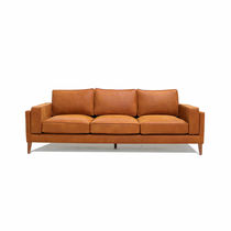 Contemporary sofa / leather / 3-seater / custom