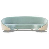 Semicircular sofa / contemporary / velvet / brass