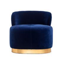Contemporary fireside chair / velvet / brass / custom