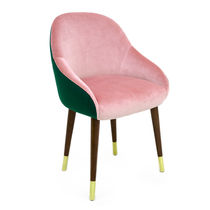 Contemporary dining chair / upholstered / with armrests / custom