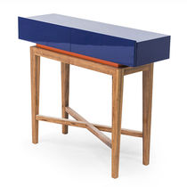 Contemporary sideboard table / lacquered wood / rectangular / custom