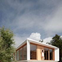 Prefab house / modular / contemporary / wooden frame