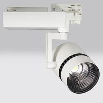 LED track light / circular / aluminum / museum