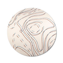 Contemporary rug / patterned / Tencel® / round