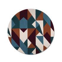 Contemporary rug / geometric pattern / Tencel® / round