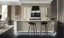Contemporary kitchen / marble / wooden / island