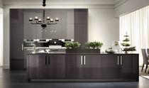 Contemporary kitchen / wooden / island / high-gloss