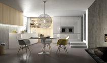 Contemporary kitchen / glass / island / high-gloss
