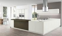 Contemporary kitchen / melamine / wooden / island