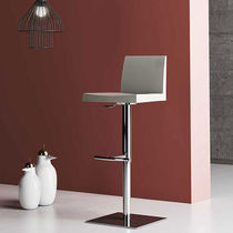 Contemporary bar chair / upholstered / adjustable-height / fabric