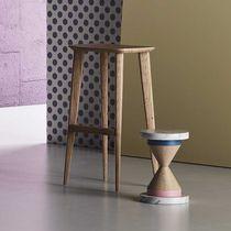 Contemporary bar stool / oak / walnut / commercial