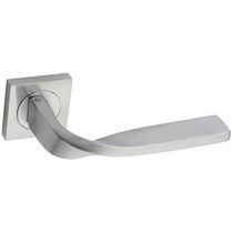 Door handle / brass / chrome-plated brass / minimalist design