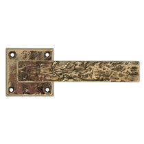 Door handle / metal / rustic / engraved