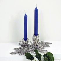 Silver-plated candle holder