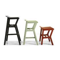 Bar stool / contemporary / beech / fabric