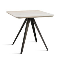 Contemporary table / beech / ash / metal