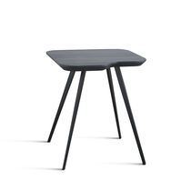Contemporary side table / MDF / ash