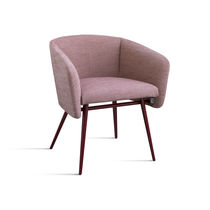Contemporary dining chair / beech / fabric / with armrests