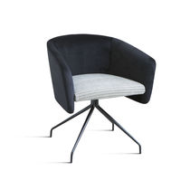 Contemporary office armchair / metal / fabric / swivel